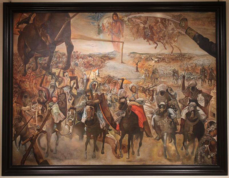 サルバドール・ダリ《テトゥアンの大会戦》1962年 油彩・画布 304.0×396.0cm